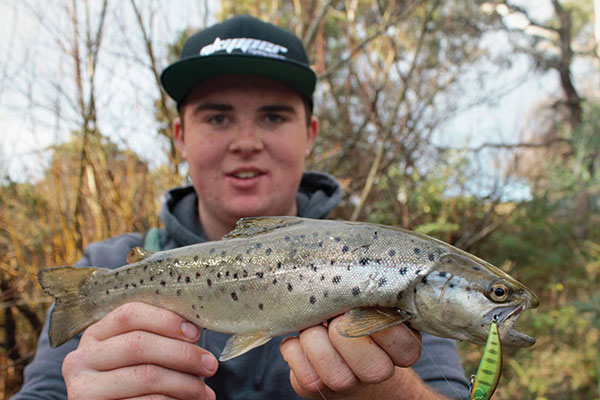 Man -holding -a -Tasmanian -trout