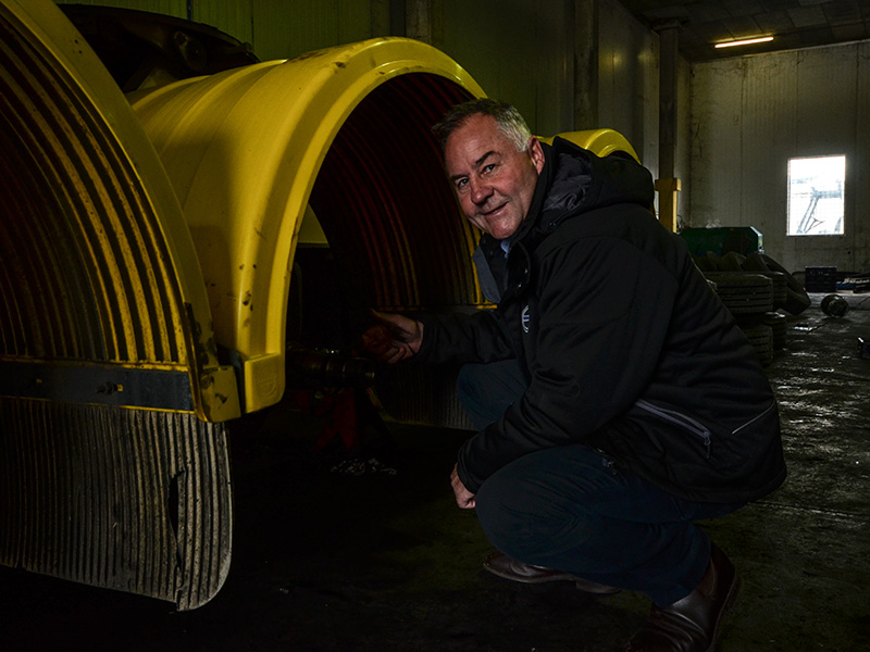 A mechanic by trade, Scott Hannah still likes getting his hands dirty