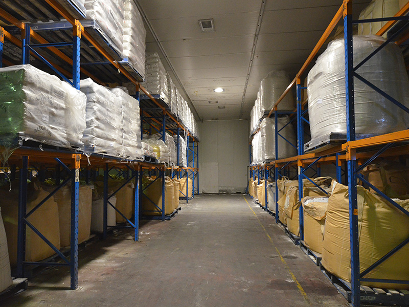 The Platinum Warehousing arm of the business. Washing powder storage on right