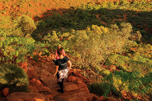 People -walking -in -the -outback -at -Alice -Springs -Australia