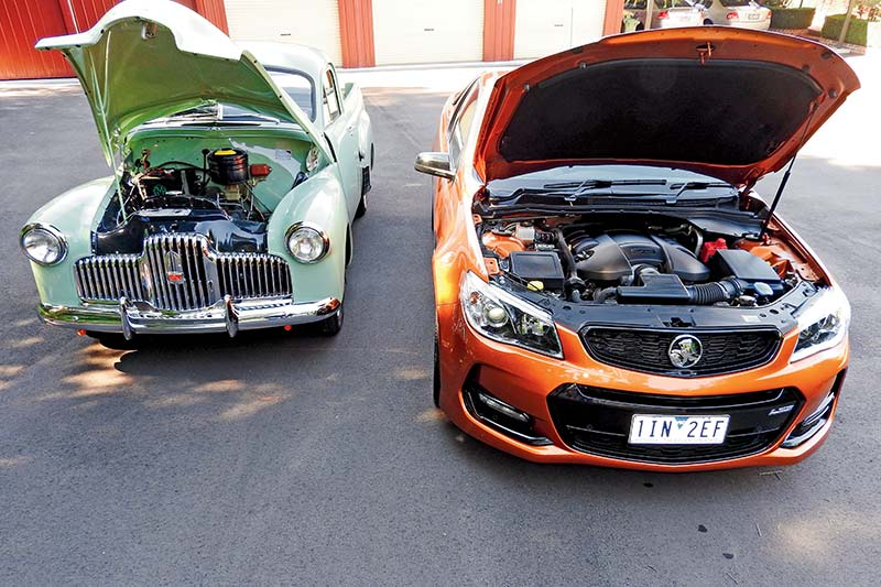 Holden -utes -engine -bay