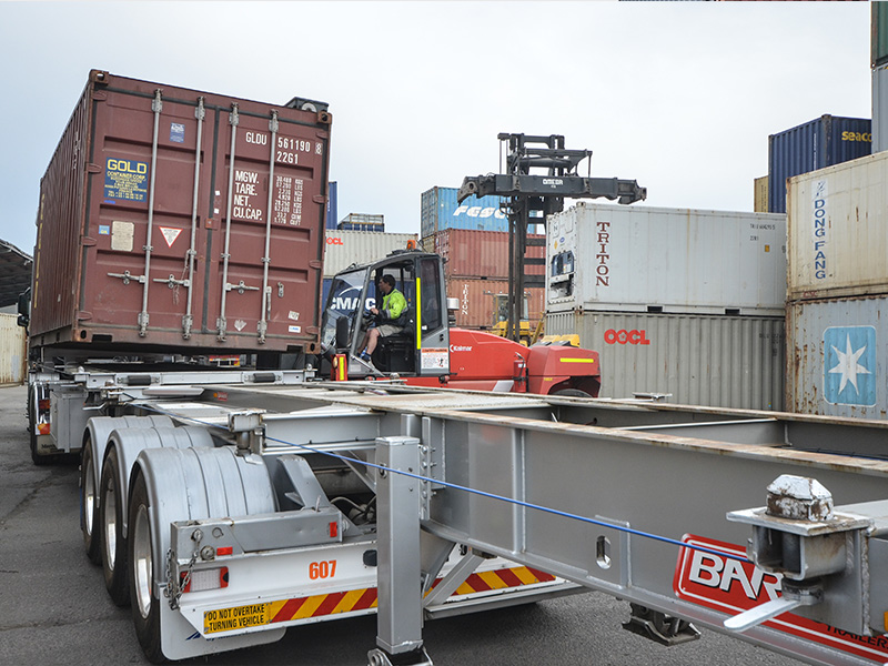 It's a neverending stream of container loads and unloads for Scott Lovatt Container Transport