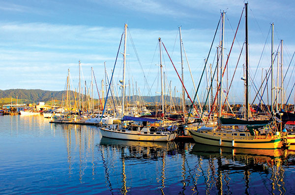 Boats -are -docked -at -Coffs -Harbour