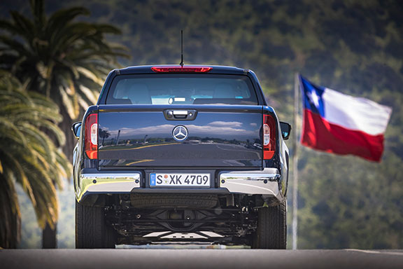 The X-Class from behind