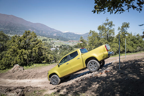 The Mercedes X-Claas is based on the Nissan Navara platform