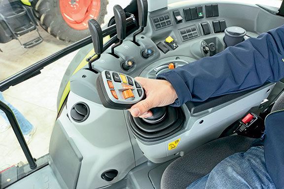 The Claas Arion and its multifunction control lever