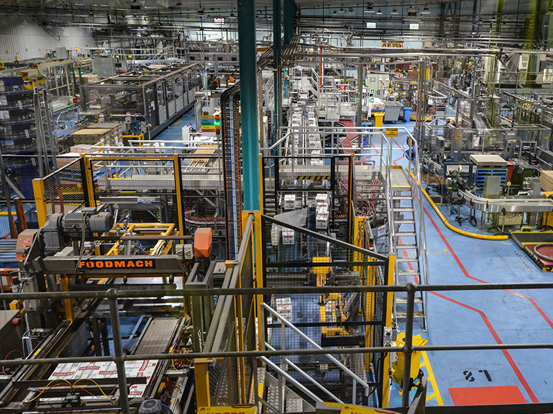 The Diageo bottling facility that runs alongside the new warehouse at Huntingwood