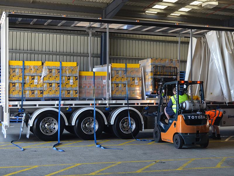 Loading at Diageo's Sydney warehouse