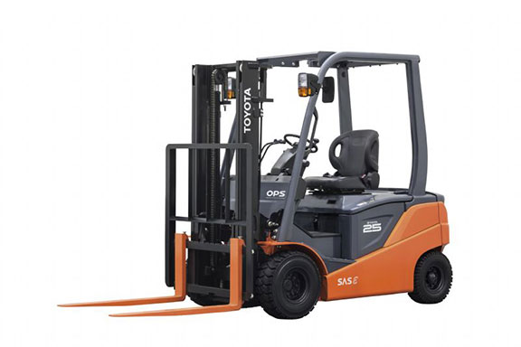 Toyota's new 8FB battery electric four-wheel counter-balance forklift