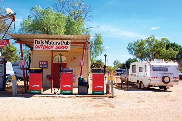 Caravan -at -a -petrol -station