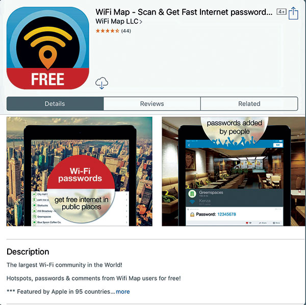 Wi Fi -Map -app