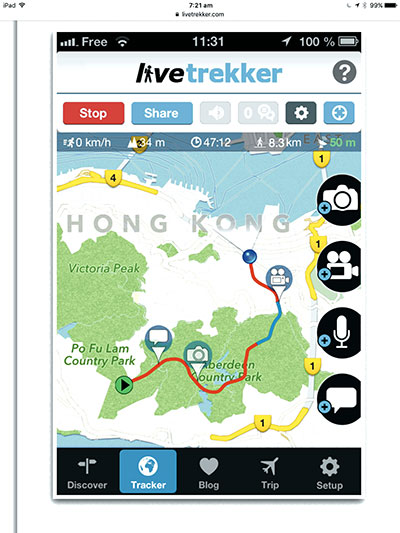 Livetrekker -app