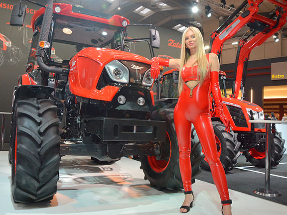 The new Zetor on show at Agritechnica