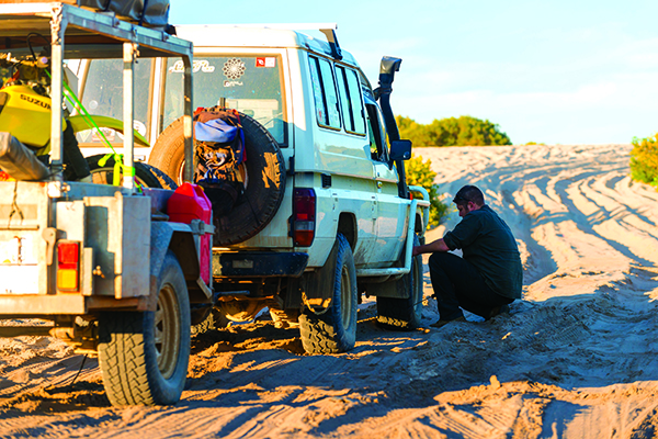 Sand Recovery Masterclass Adjust Tyre Pressure