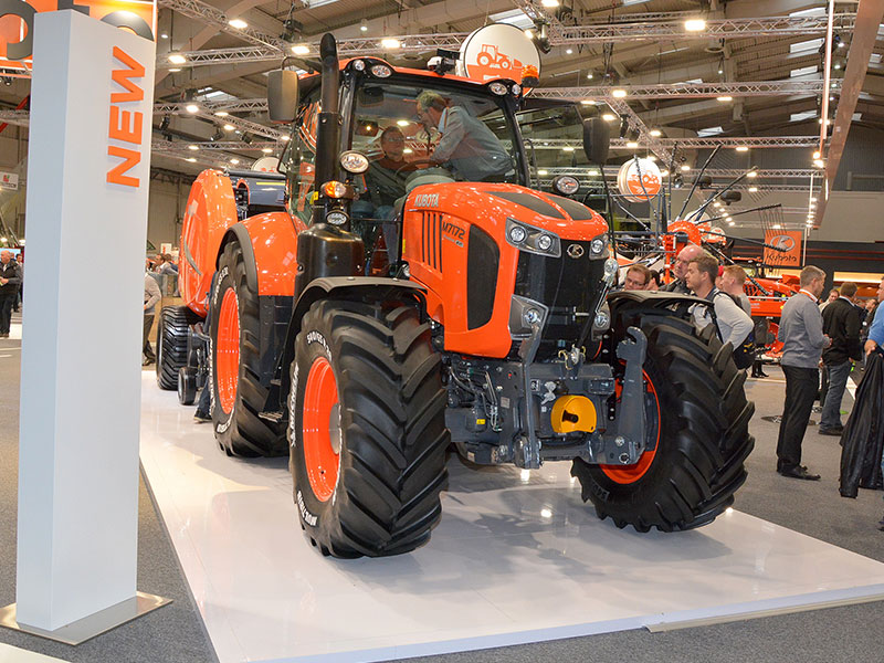The new Kubota M7002 range of tractor on show at Agritechnica 2017
