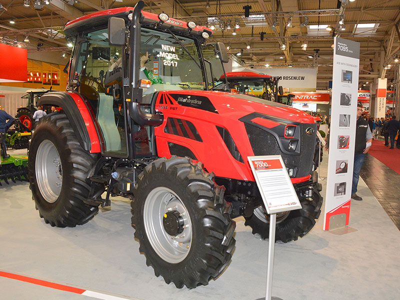 The New Mahindra 7095 tractor on display
