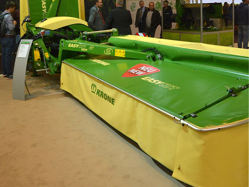 The Krone EasyCut B950 on display at Agritechnica 2017
