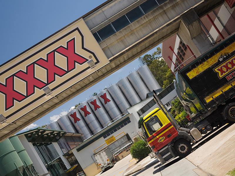The Castlemaine-Perkins XXXX brewery in Brisbane