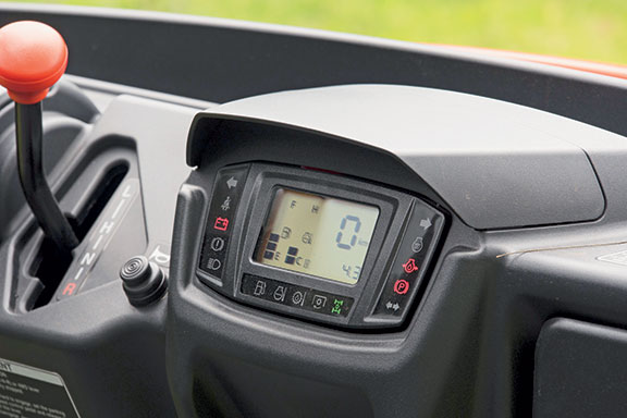 The Kubota X1140 UTV's digital instrument