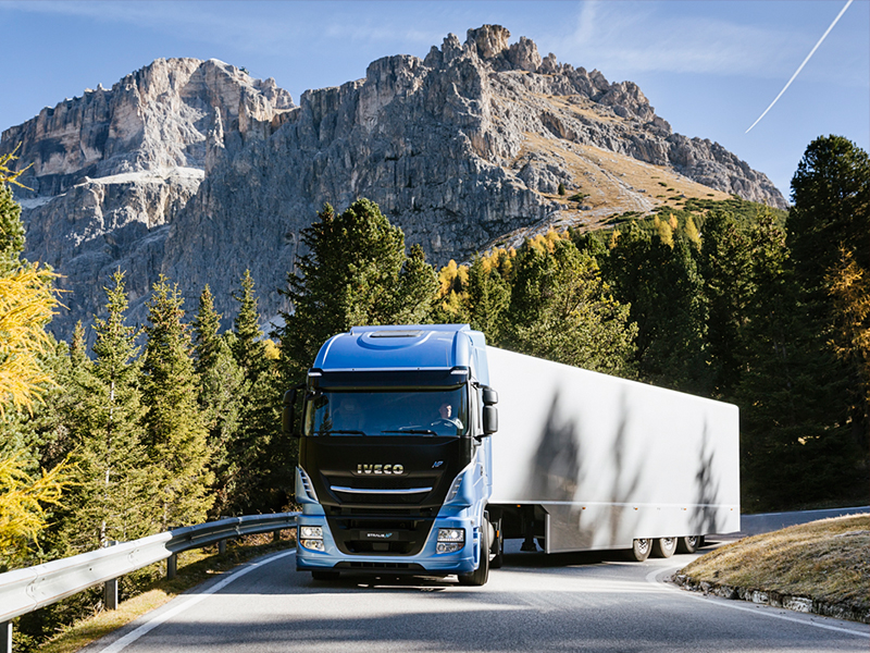 The Iveco Stralis on long-haul, well suited to the Cursor 13 NG's 1500km range