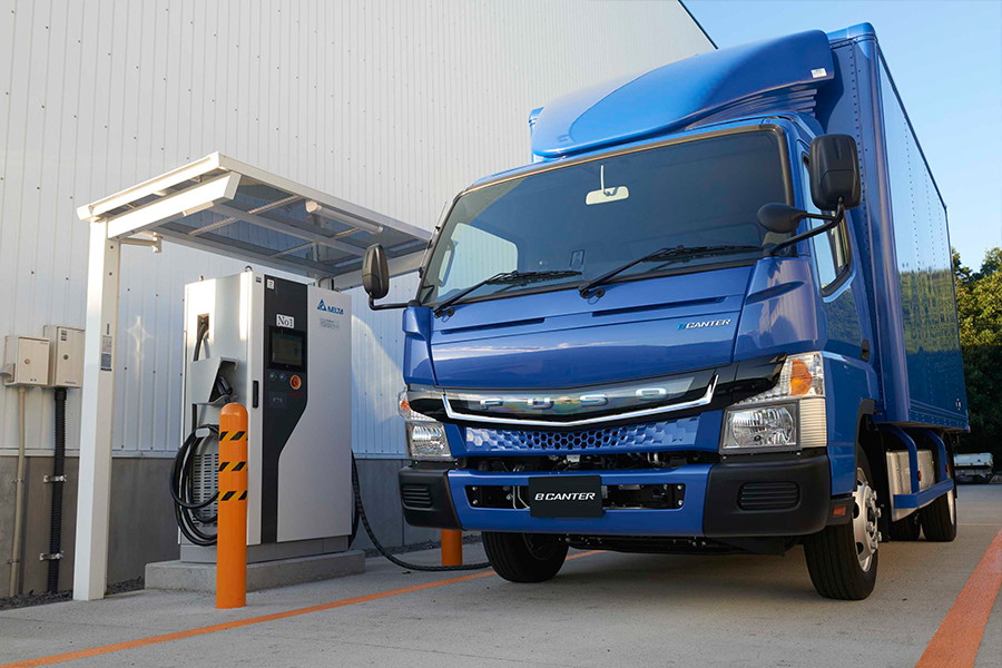 Fuso eCanter. For the first time, an electric truck is in production.