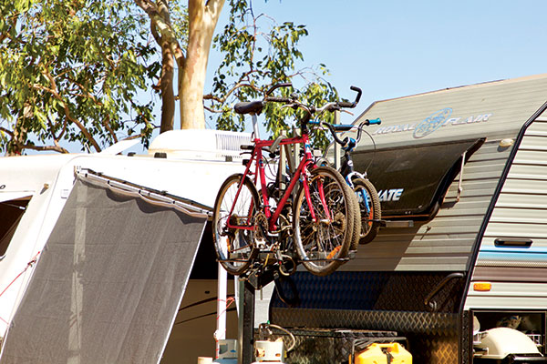 Bikes -packed -up -on -a -caravan
