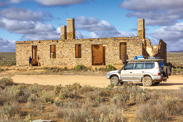 Exploring -old -ruins -outback -SA