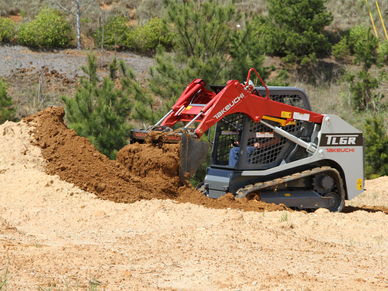 The Takeuchi TL6R compact track loader in action