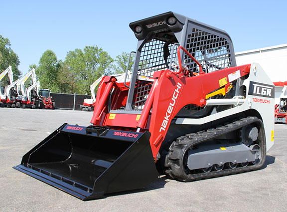 The Takeuchi TL6R side on