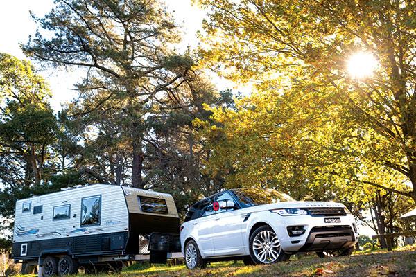 Living -edge -caravan -Bellagio -towed -by -a -4WD