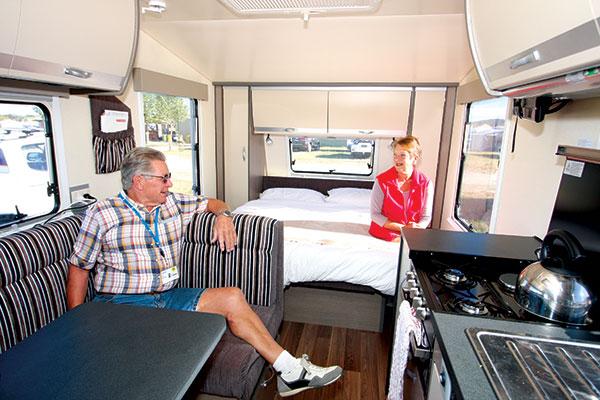 People -sitting -inside -a -caravan