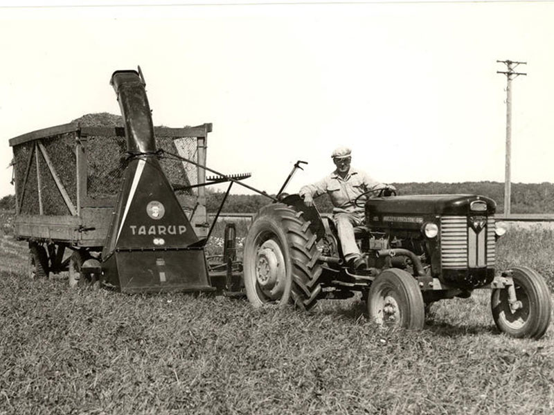 the iconic Taarup forage harvester