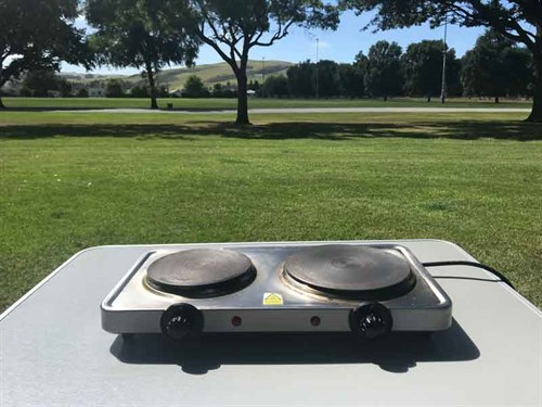 Our -trusty -twin -hotplate -can -cook -almost -anything!