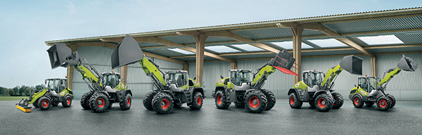 The full Claas Torion loader lineup