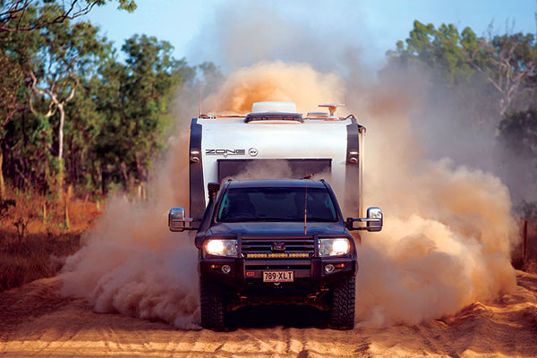 Clearview -towing -mirrors -on -a -4WD-in -Cape -York -at -Race -to -the -Cape