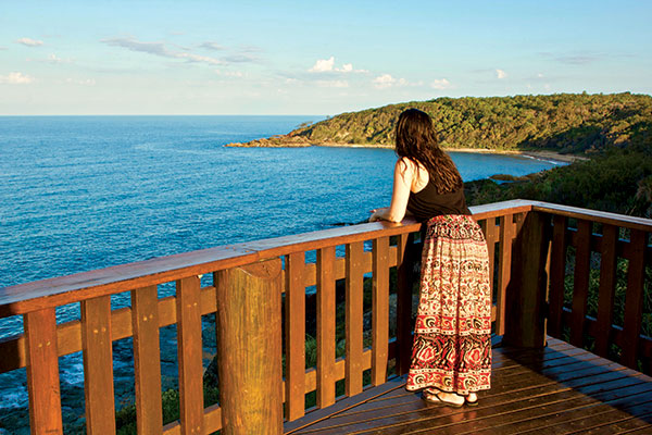 Woman -at -the -headland -lookout -near -Workmans -Campground -in -Agnes -Water -Qld