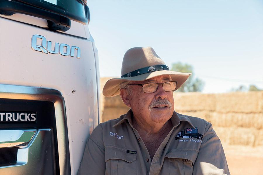 Aussie Helpers' Brian Egan. Dedicated to simply lending a hand