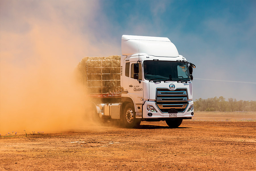 Quon handled blacktop and dirt with equal ease, though searing temperatures kept the engine fan busy on the bitumen