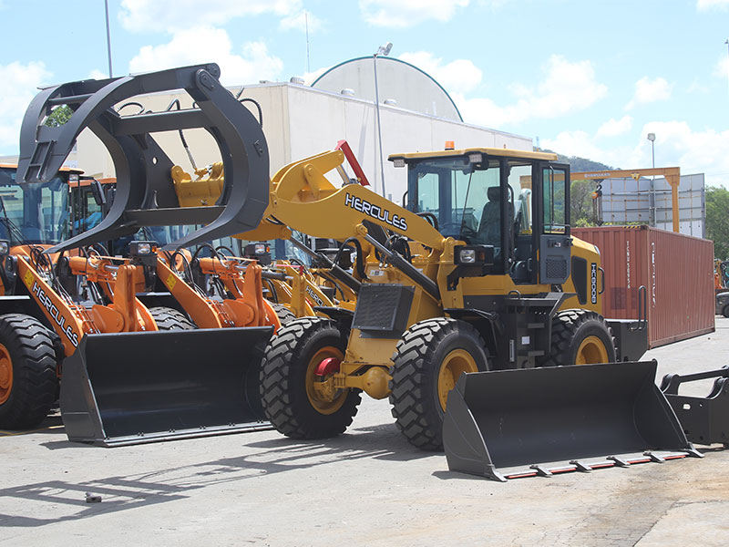 The Hercules HC-800B wheel loader stands proud