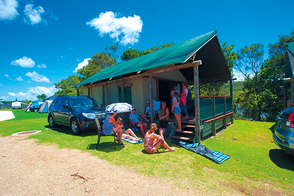 People -under -Surfari -tent -at -Hastings -Point