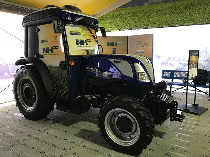 The New Holland autonomous T4.110F tractor