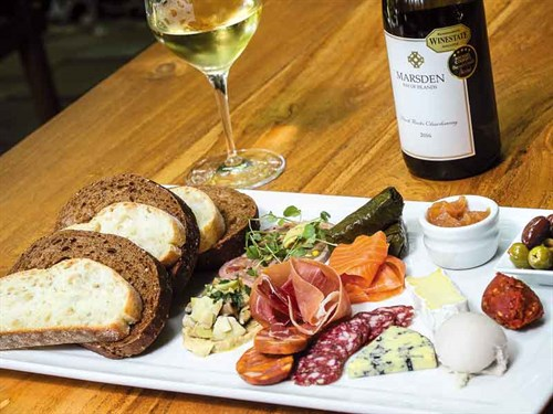 A-platter -served -with -Marsden -Estate 's -winning -chardonnay-