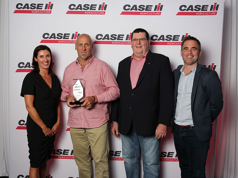 From left, Lisa Day (O'Connors), David Hair (O'Connors), Bruce Healy, brand leader for Case IH Australia/New Zealand, and Gareth Webb (O'Connors).