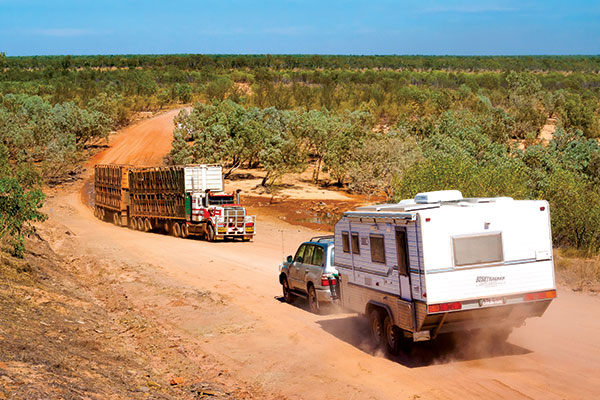 Bushtracker -caravan -on -the -road -in -the -outback
