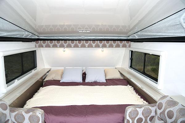 Caravan -interior -bed