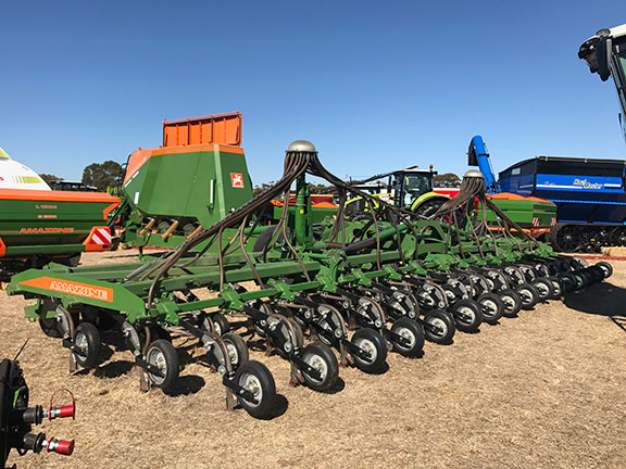 The Amazone Condor seed drill on display at the Wimmera Machinery field days
