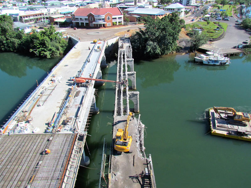 Hyundai -excavators -on -bridge