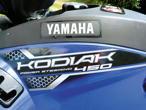 Power steering, a great feature of the Kodiak 450