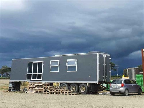 Sharla 's -completed -tiny -house -is -now -for -sale -on -Trade -Me