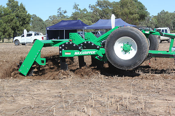 The K-Line Ag MaxxRipper range working the soil